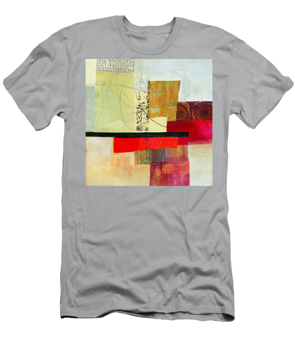 Jane Davies Men's T-Shirt (Athletic Fit) featuring the painting Grid 2 by Jane Davies
