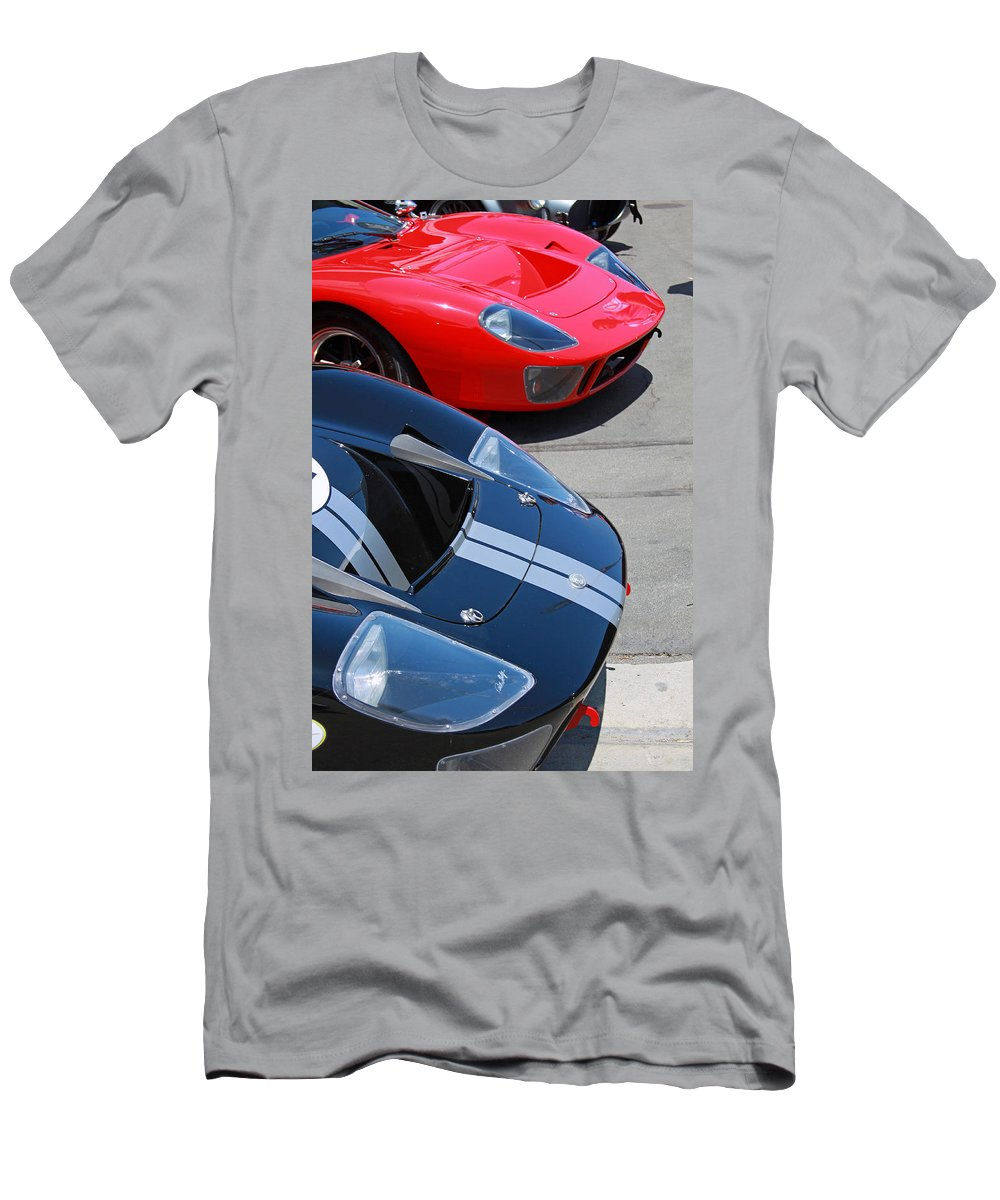 Ford Gt40 Men's T-Shirt (Athletic Fit) featuring the photograph Gt40s by Shoal Hollingsworth