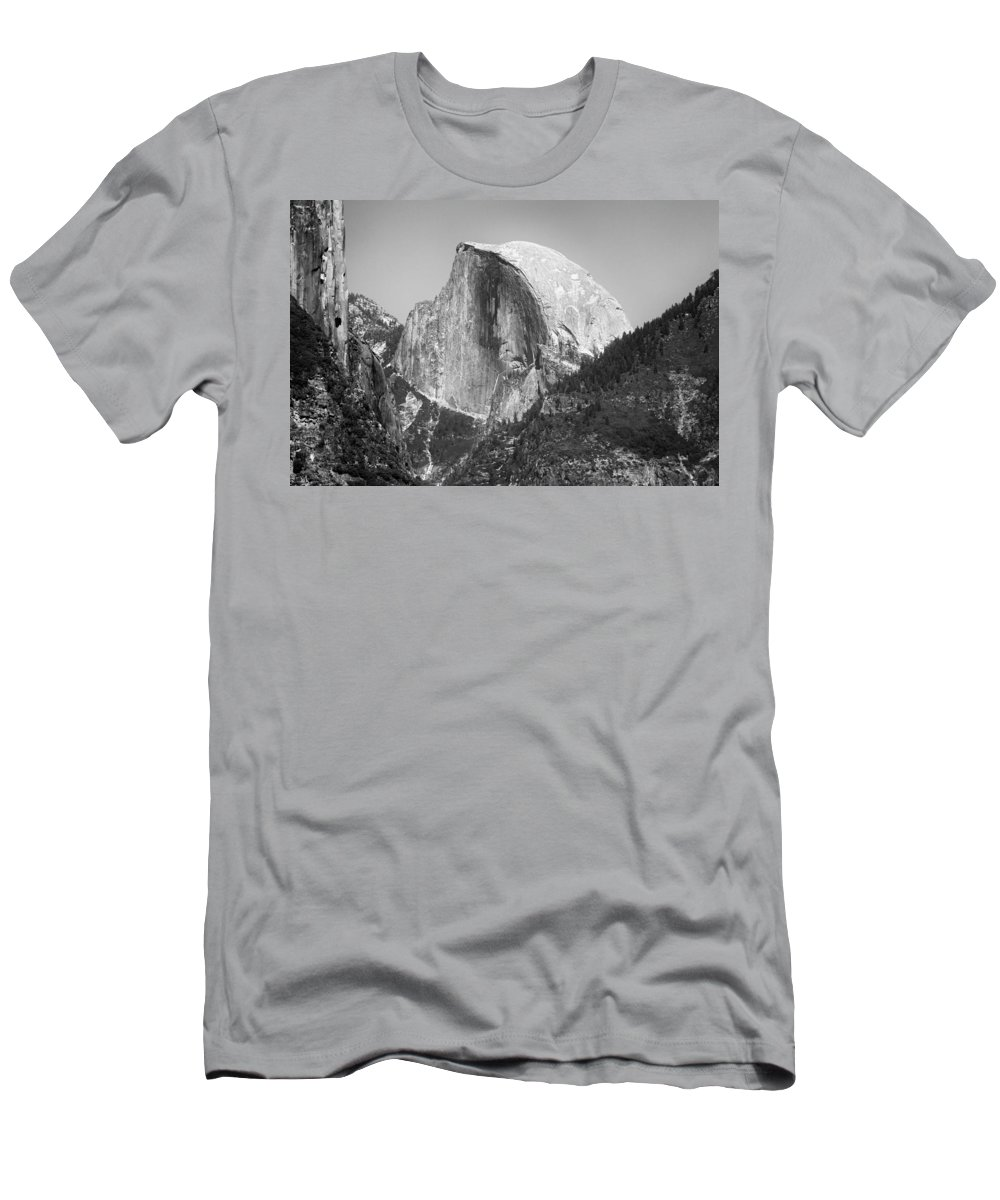 Landscape Men's T-Shirt (Athletic Fit) featuring the photograph Half Dome Yosemite by David Beebe