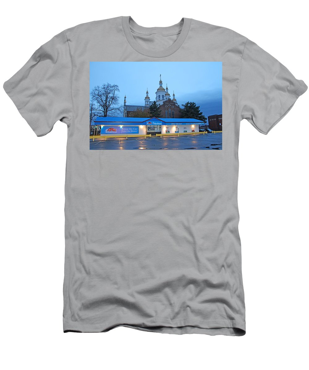 Hamilton Men's T-Shirt (Athletic Fit) featuring the photograph Hamilton Orthodox Church by Munir Alawi