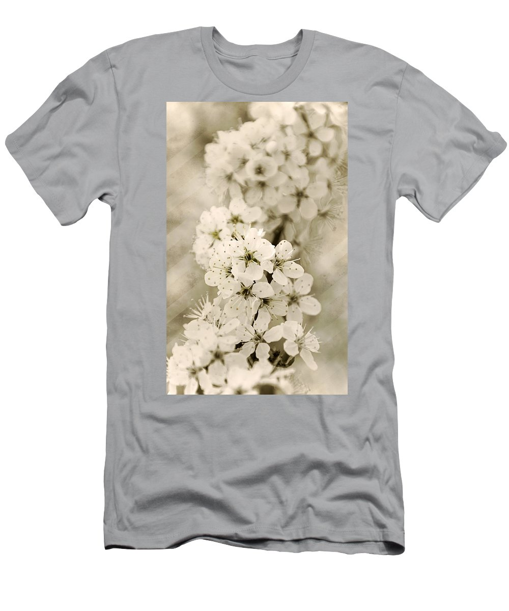 Hanami Men's T-Shirt (Athletic Fit) featuring the photograph Hanami by Claudia Moeckel