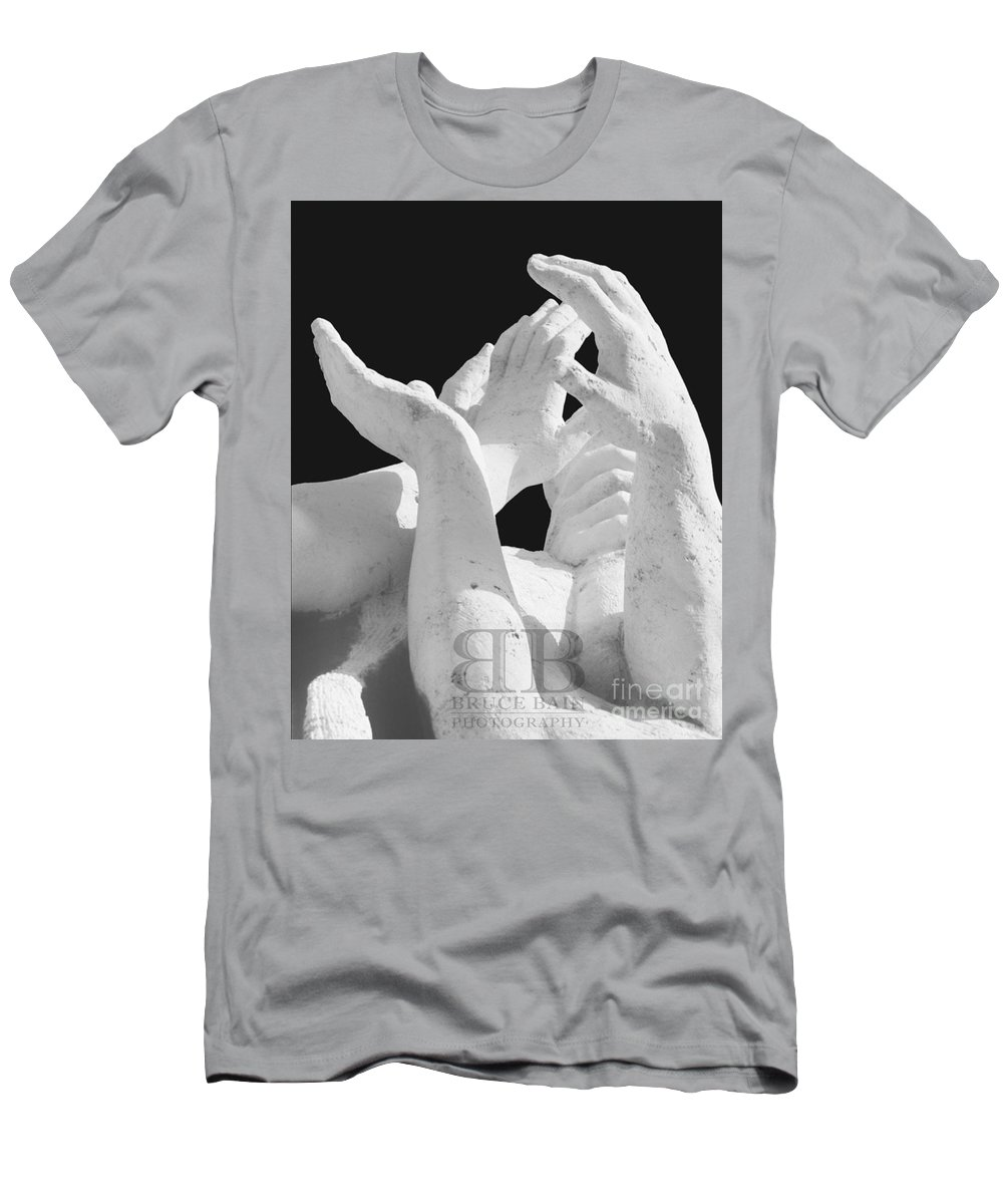 Hands Men's T-Shirt (Athletic Fit) featuring the photograph Hands by Bruce Bain