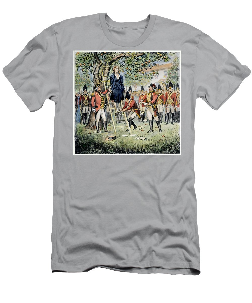 1776 Men's T-Shirt (Athletic Fit) featuring the photograph Hanging Of Nathan Hale by Granger