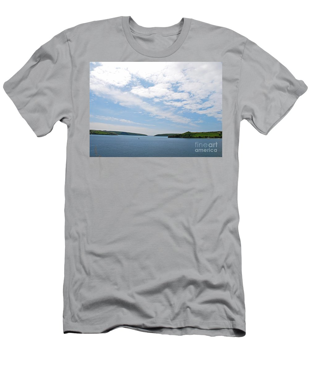 Water Men's T-Shirt (Athletic Fit) featuring the photograph Harbor Entrance by Mary Carol Story