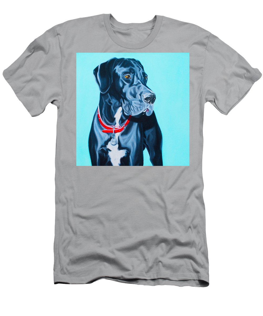 Great Dane Painting Men's T-Shirt (Athletic Fit) featuring the painting Harvey by Deborah Cullen