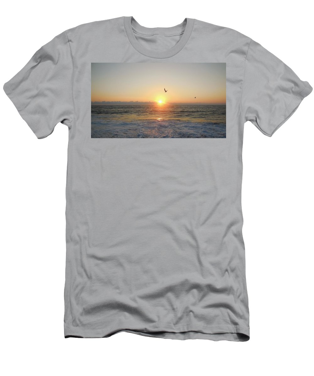 Mark Lemmon Cape Hatteras Nc The Outer Banks Photographer Subjects From Sunrise Men's T-Shirt (Athletic Fit) featuring the photograph Hatteras Island Sunrise 2 8/23 by Mark Lemmon