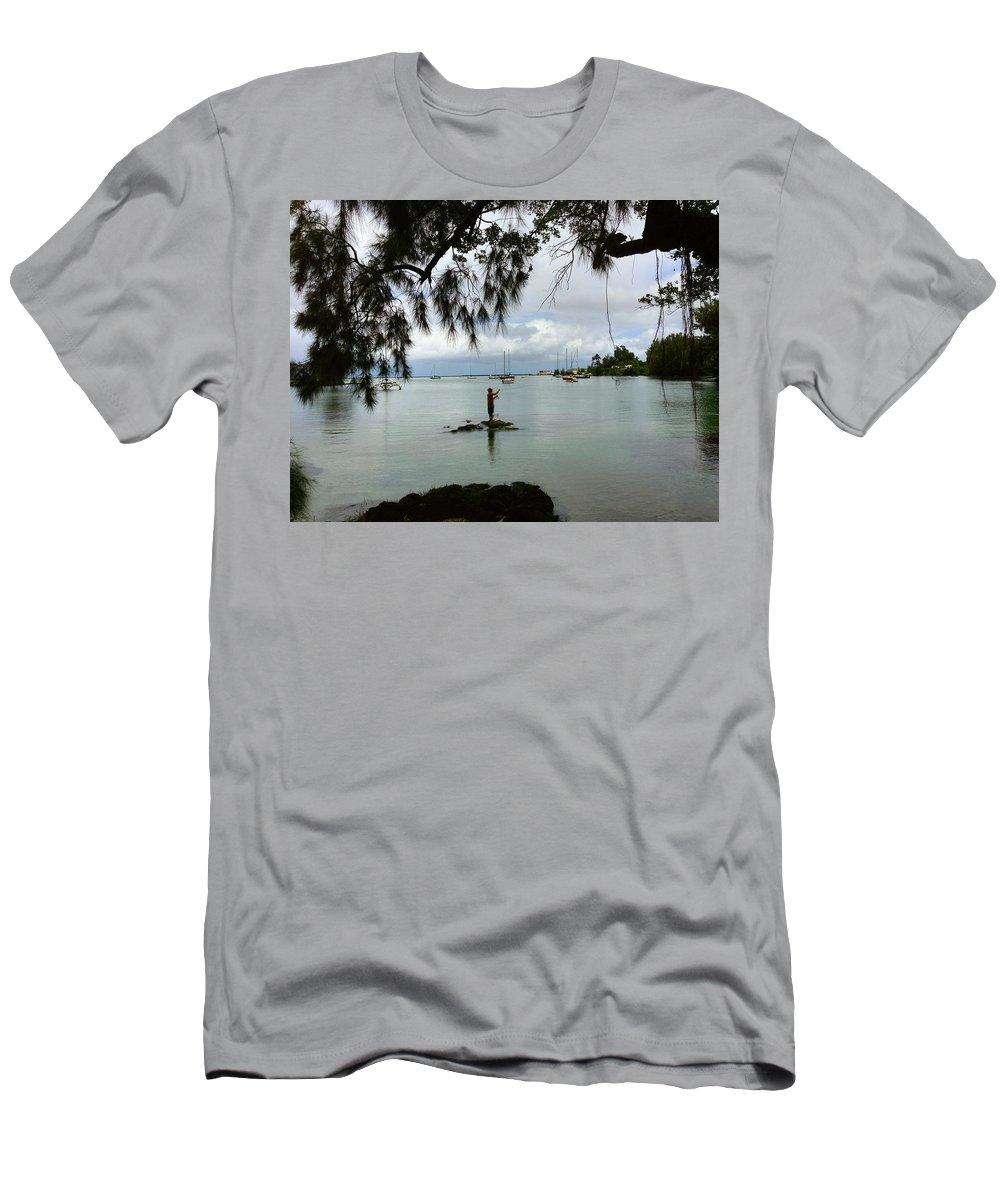 Hawaiiana Men's T-Shirt (Athletic Fit) featuring the digital art Hawaiiana 33 by D Preble
