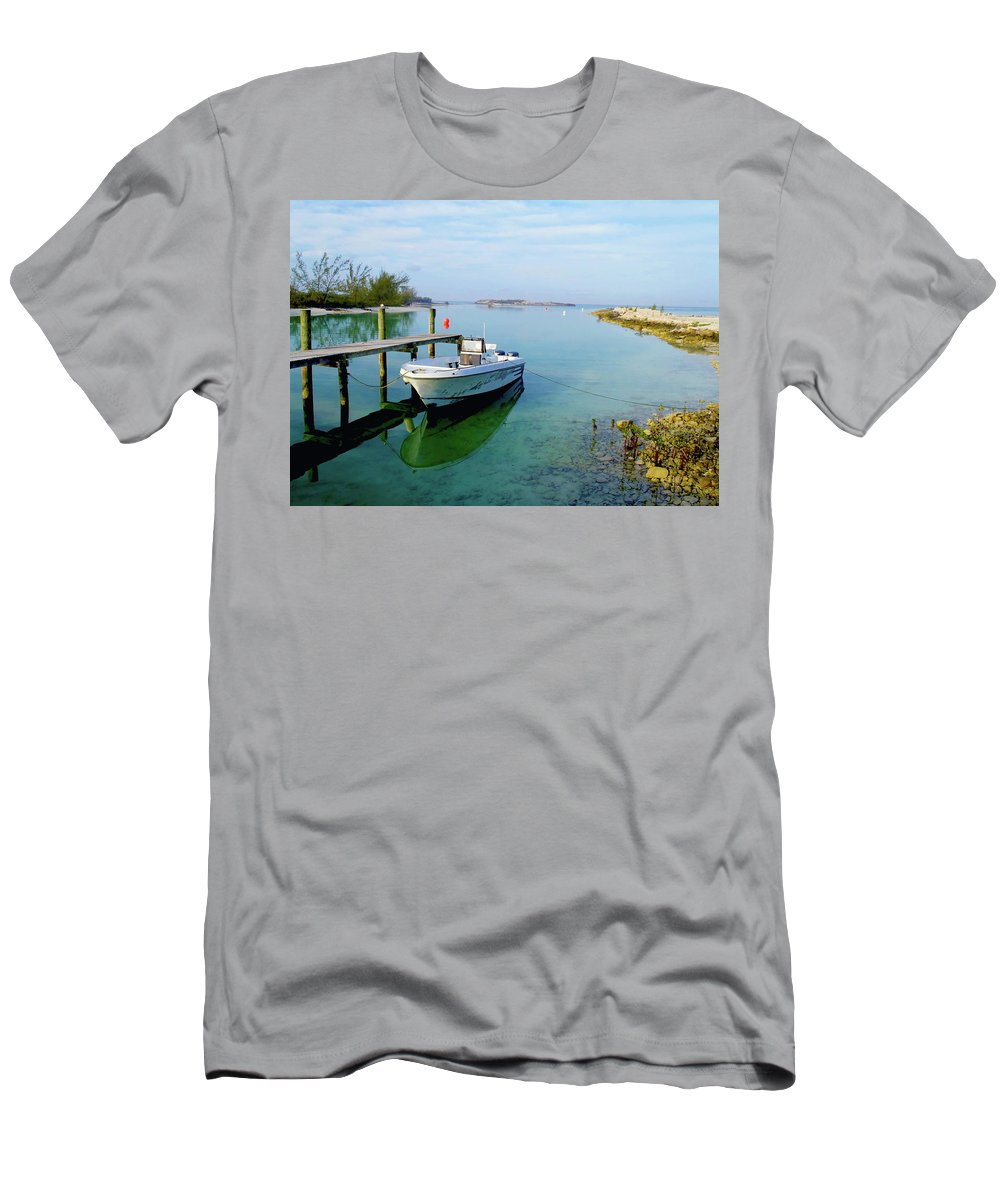 Hawks Nest Marina Men's T-Shirt (Athletic Fit) featuring the photograph Hawks Nest Marina by Carey Chen