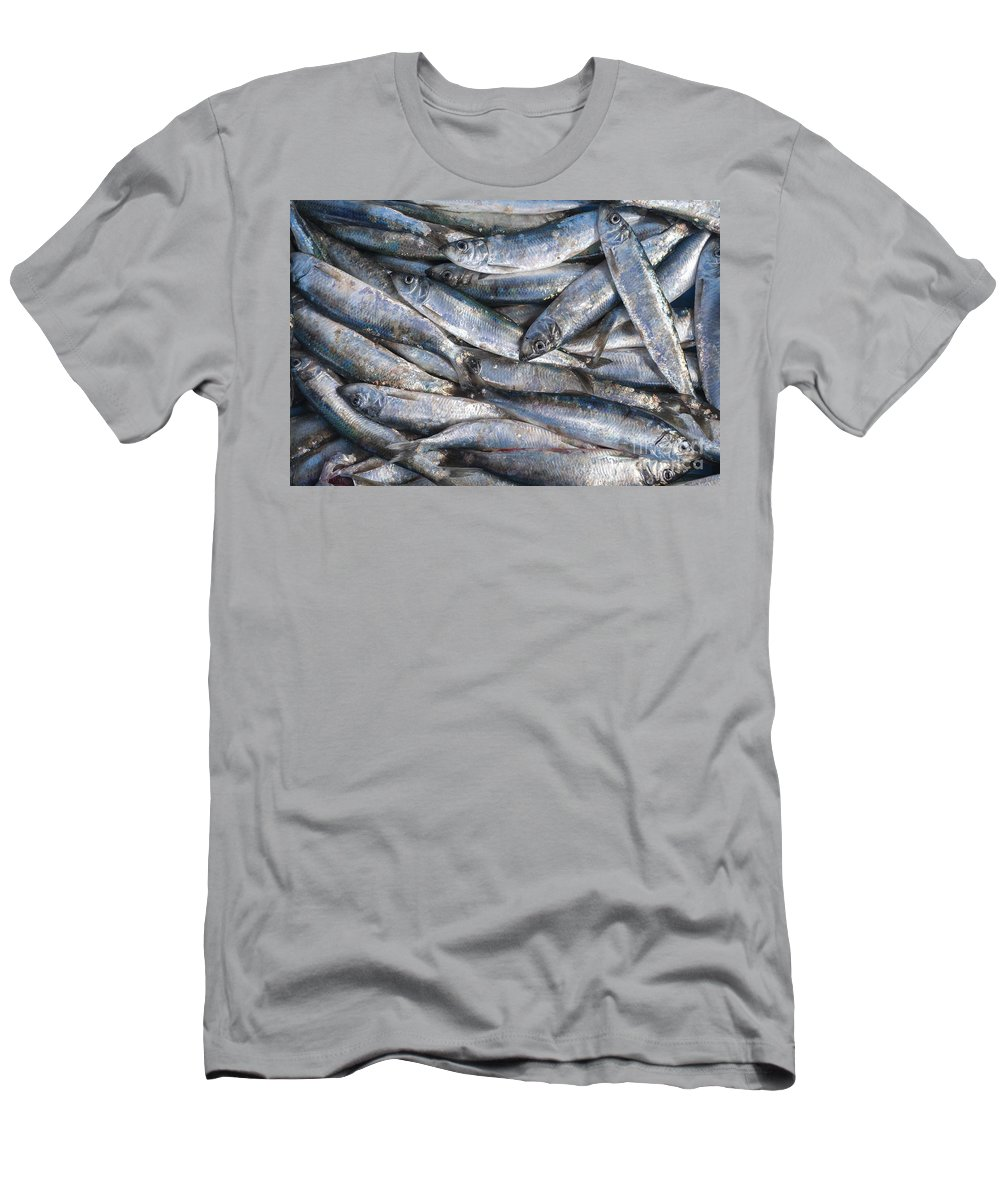 Fish Men's T-Shirt (Athletic Fit) featuring the photograph Herrings by Julian Eales