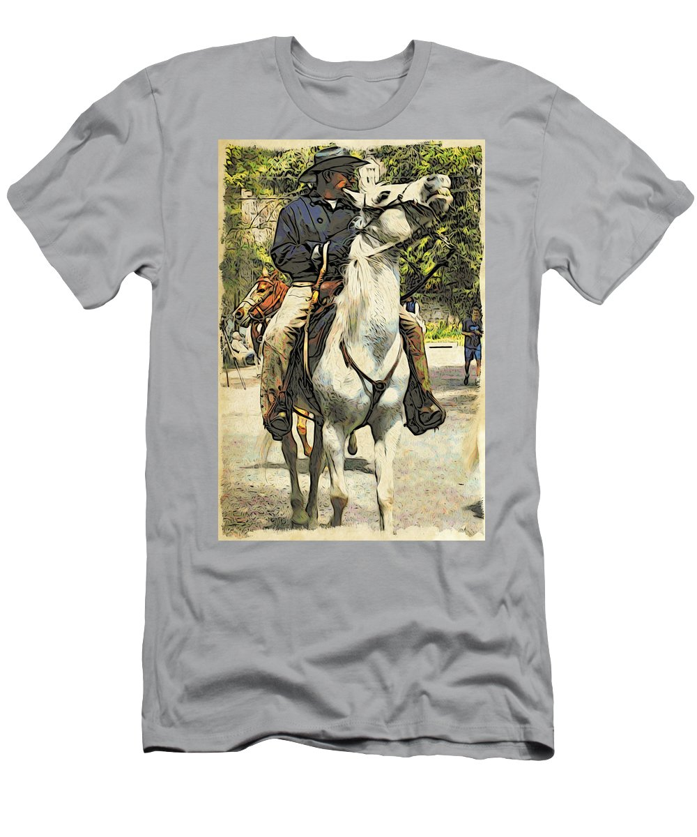 Horse Men's T-Shirt (Athletic Fit) featuring the photograph High Horse by Alice Gipson