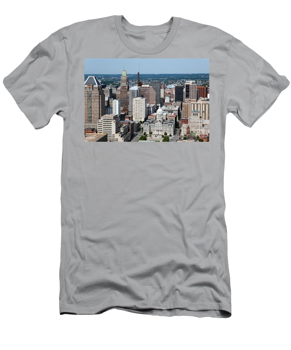 Baltimore Men's T-Shirt (Athletic Fit) featuring the photograph Historic City Centre Baltimore by Bill Cobb