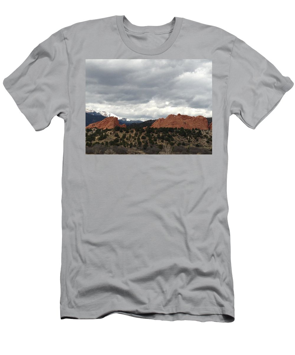 Garden Of The Gods Men's T-Shirt (Athletic Fit) featuring the photograph Home by Gina Bonelli