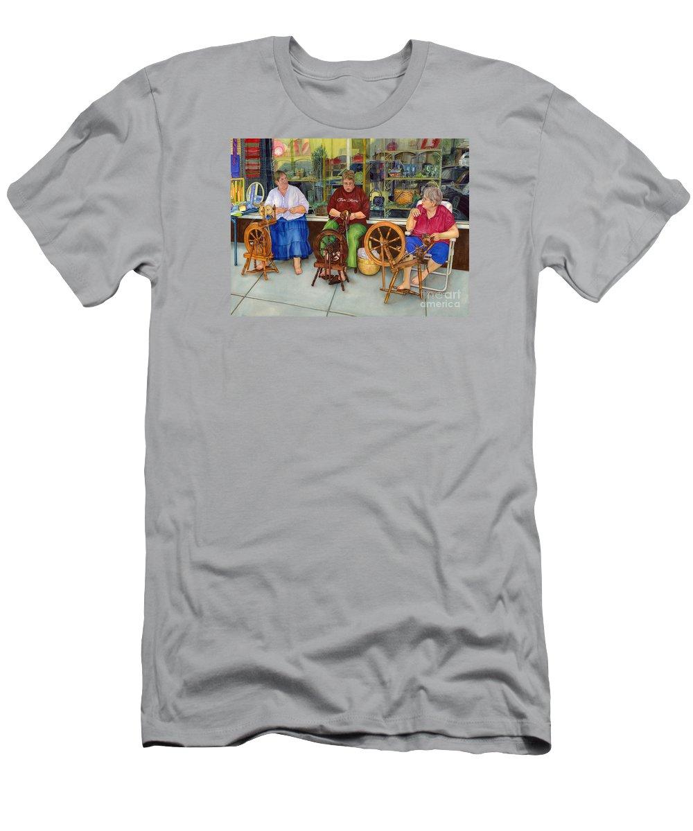 Homespun Fun Men's T-Shirt (Athletic Fit) featuring the painting Homespun Fun by Hailey E Herrera