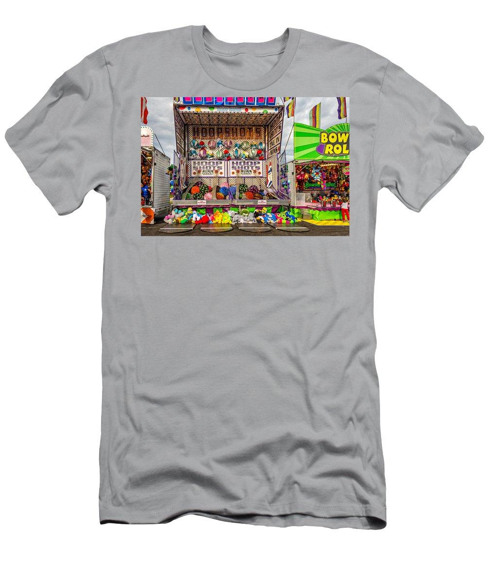 Steve Harrington Men's T-Shirt (Athletic Fit) featuring the photograph Hoop Shots by Steve Harrington