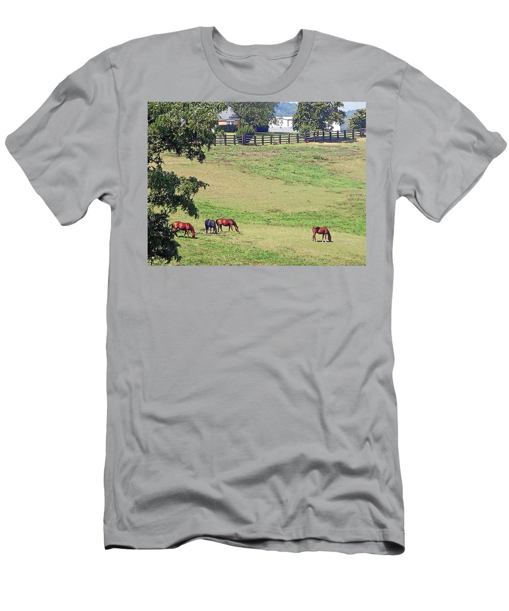 Horse Men's T-Shirt (Athletic Fit) featuring the photograph Horse Country by Aimee L Maher ALM GALLERY