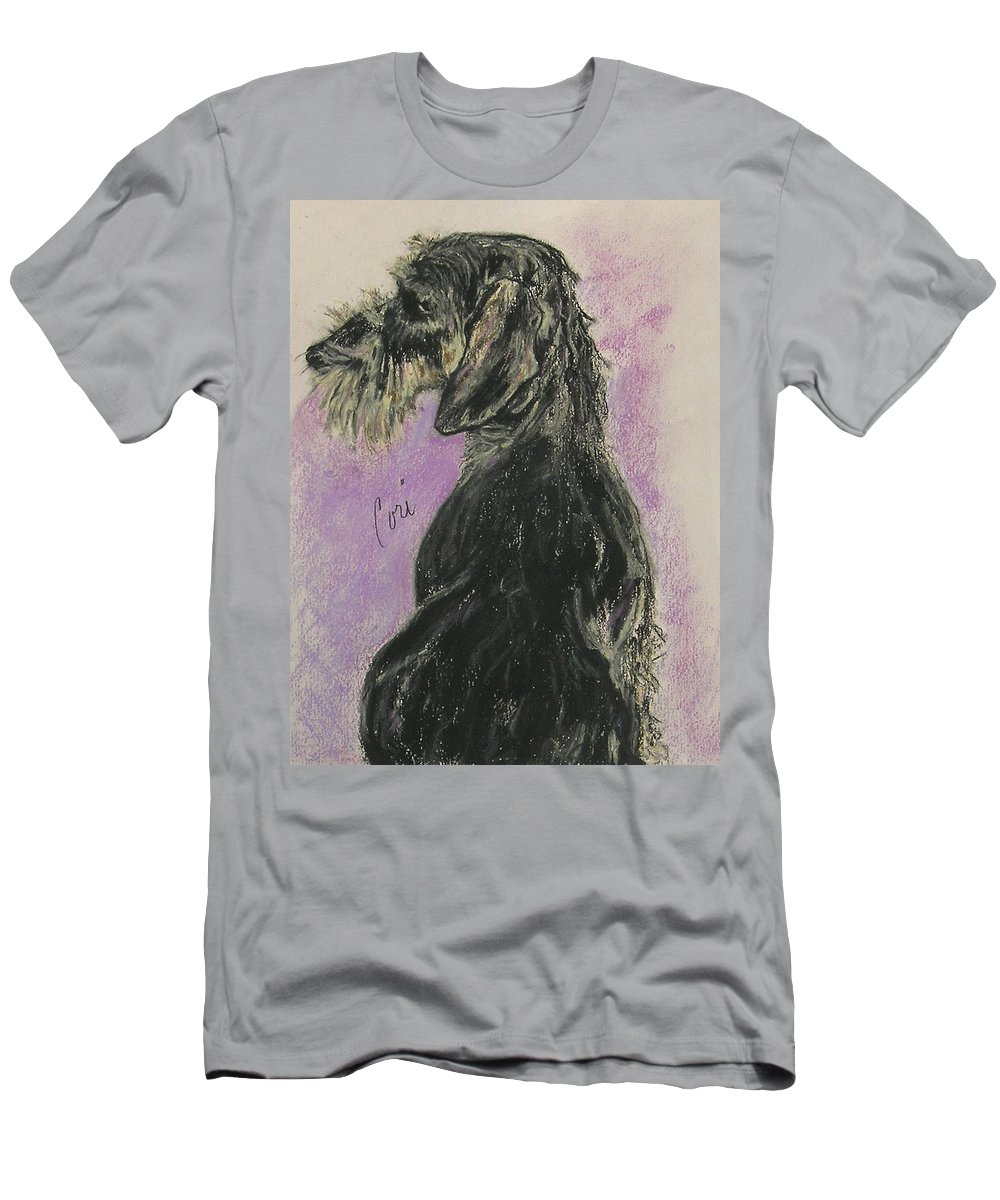 Dachshund Men's T-Shirt (Athletic Fit) featuring the drawing Hot Wired by Cori Solomon