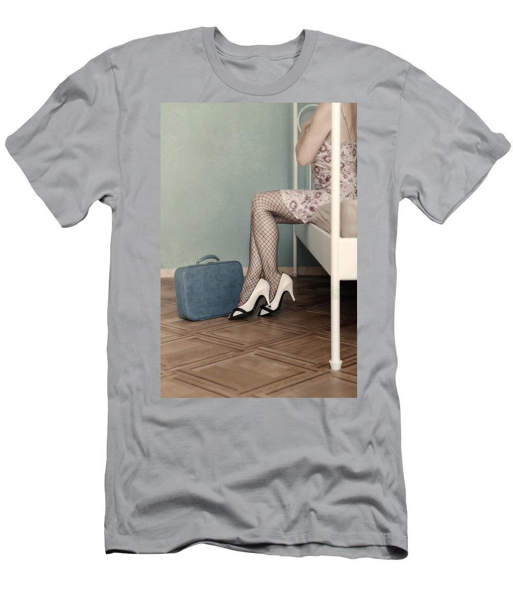 Woman Men's T-Shirt (Athletic Fit) featuring the photograph Hotel Room by Joana Kruse