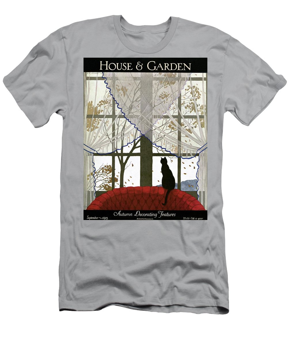 Illustration T-Shirt featuring the photograph House And Garden Cover by Andre E. Marty