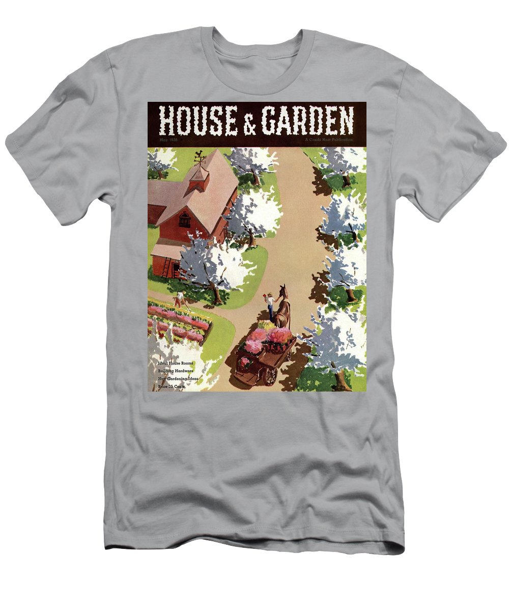 House And Garden T-Shirt featuring the photograph House And Garden Cover by John Gibbs