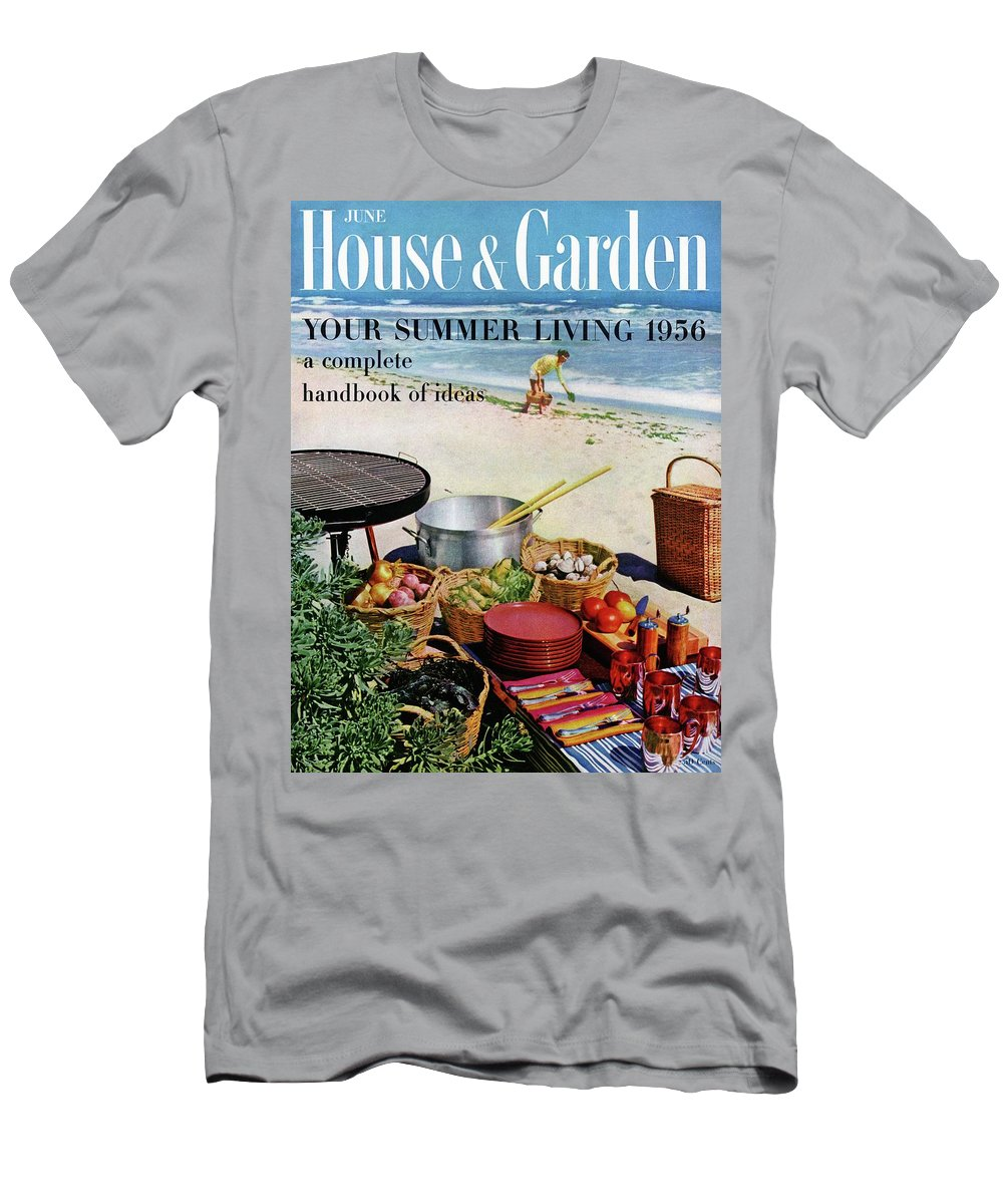 Entertainment Men's T-Shirt (Athletic Fit) featuring the photograph House And Garden Ideas For Summer Issue Cover by Tom Leonard