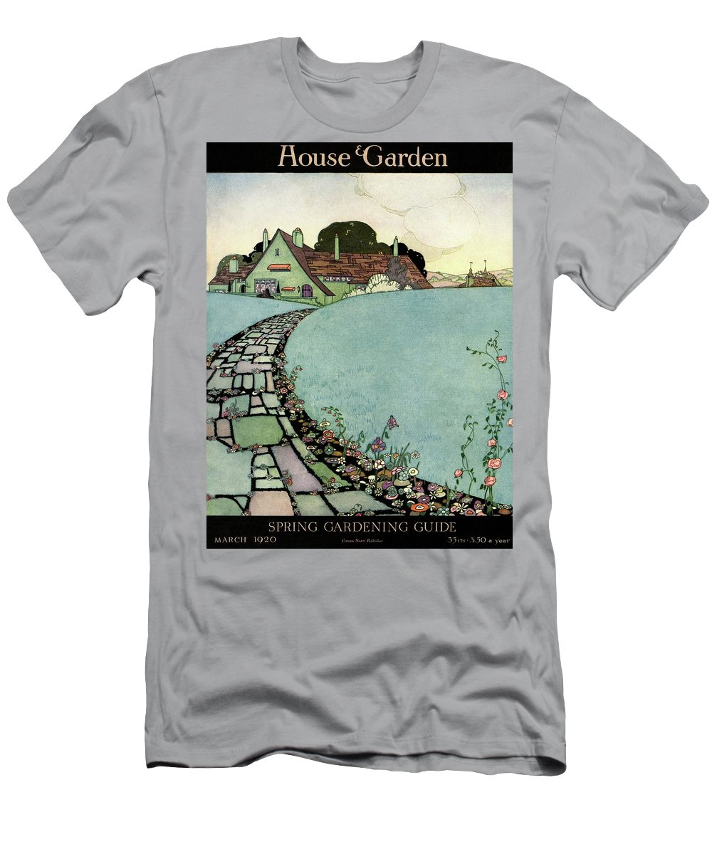 House And Garden T-Shirt featuring the photograph House And Garden Spring Garden Guide by Harry Richardson
