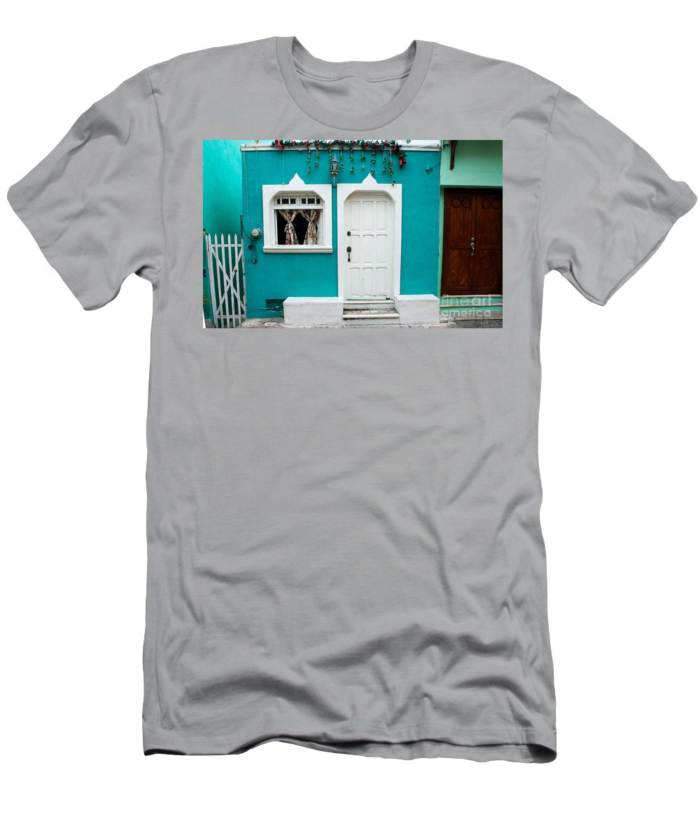 Architecture Men's T-Shirt (Athletic Fit) featuring the photograph House Front Mexico by Thomas Marchessault