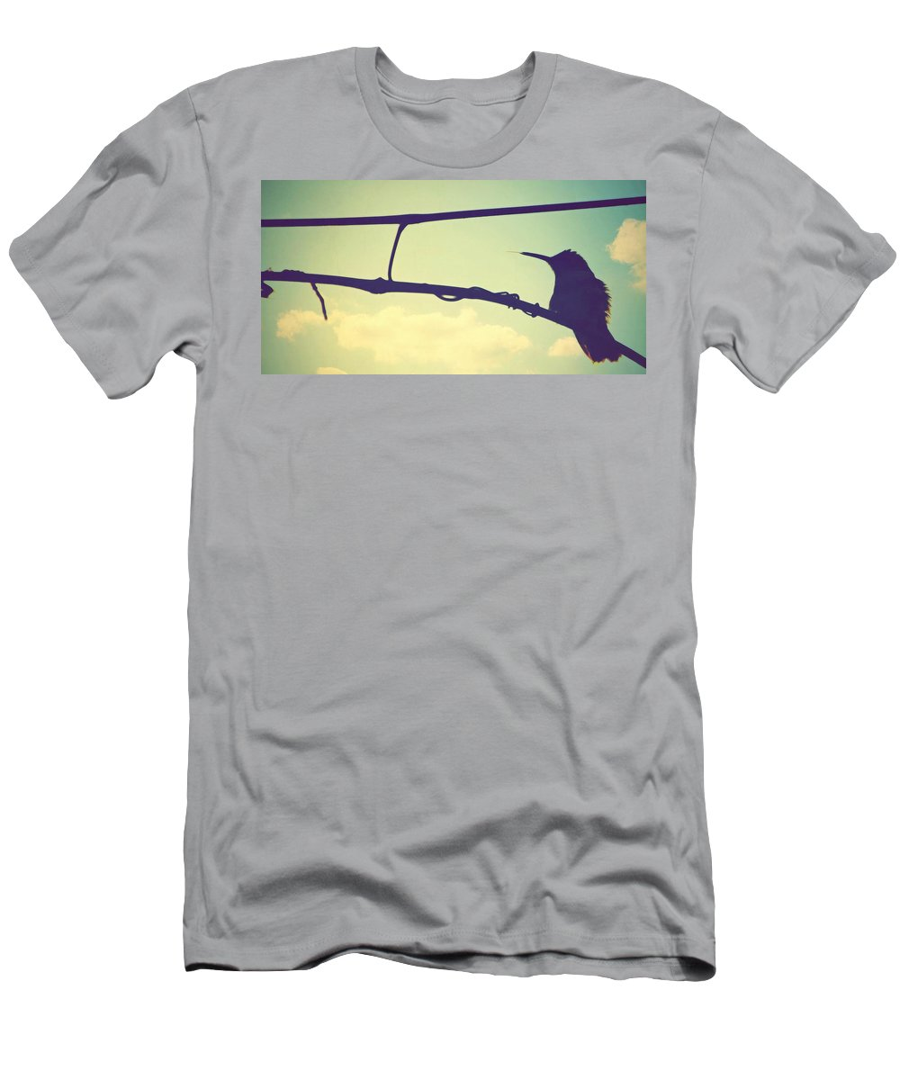 Bird Photos Men's T-Shirt (Athletic Fit) featuring the photograph Hummingbird by Marysue Ryan