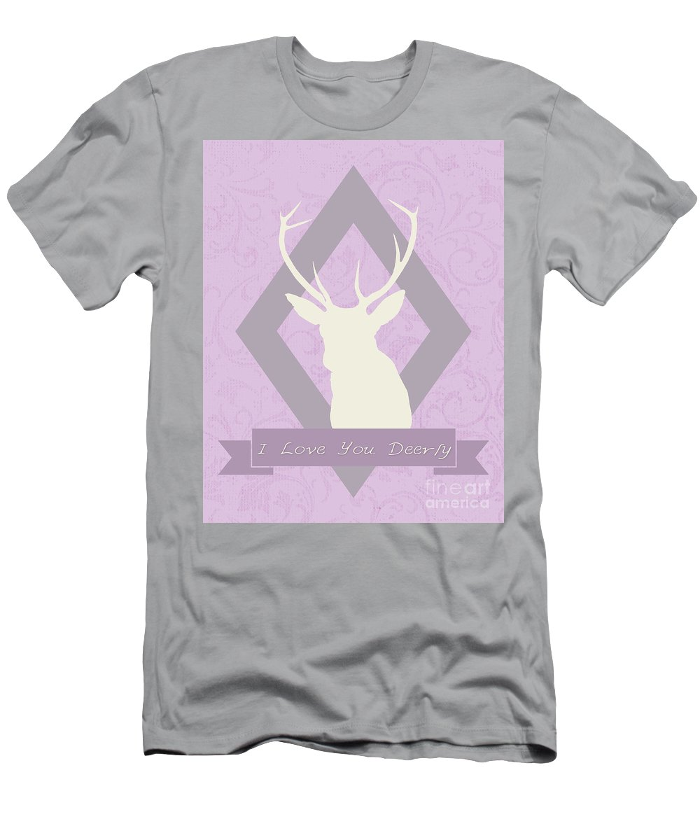 Deer Men's T-Shirt (Athletic Fit) featuring the photograph I Love You Deerly by Pati Photography