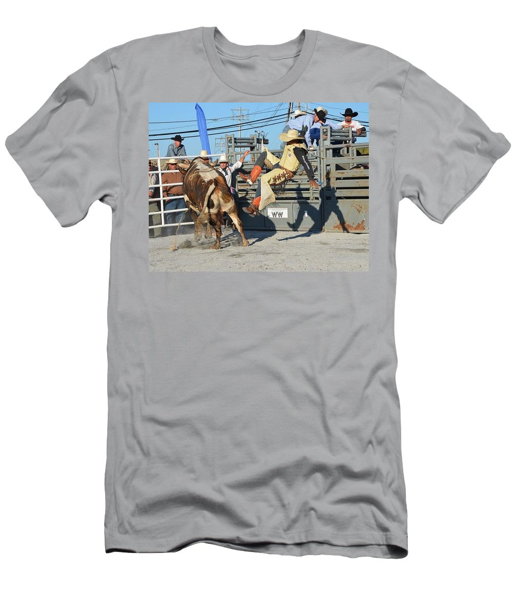 Cowboy Men's T-Shirt (Athletic Fit) featuring the photograph Flying Shadow by Michael Keough