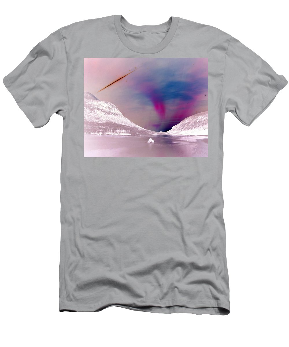 Ice Planet Men's T-Shirt (Athletic Fit) featuring the digital art Ice Planet by Gail Daley