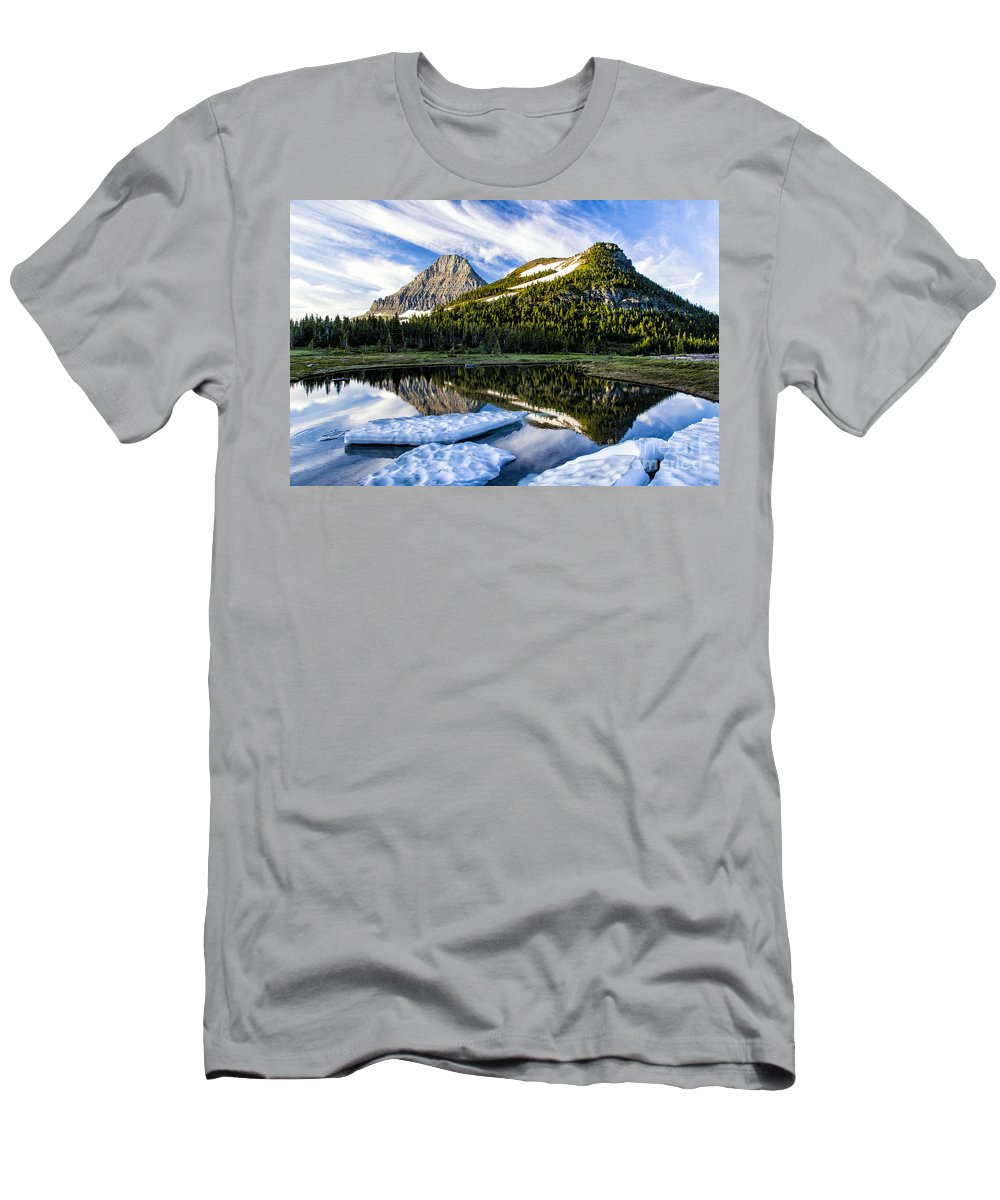Glacier Men's T-Shirt (Athletic Fit) featuring the photograph Ice Pool by Timothy Hacker