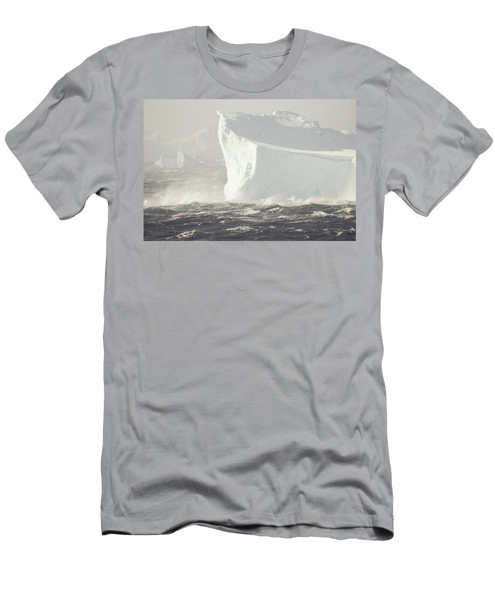 Feb0514 Men's T-Shirt (Athletic Fit) featuring the photograph Iceberg In Bransfield Strait Antarctica by Gerry Ellis