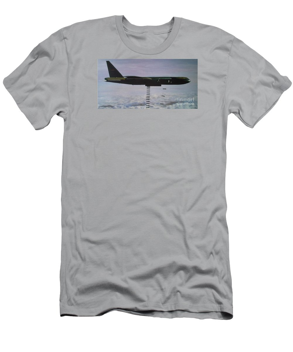 B52 Men's T-Shirt (Athletic Fit) featuring the painting Iconic 6 X 3 Feet by Richard John Holden RA