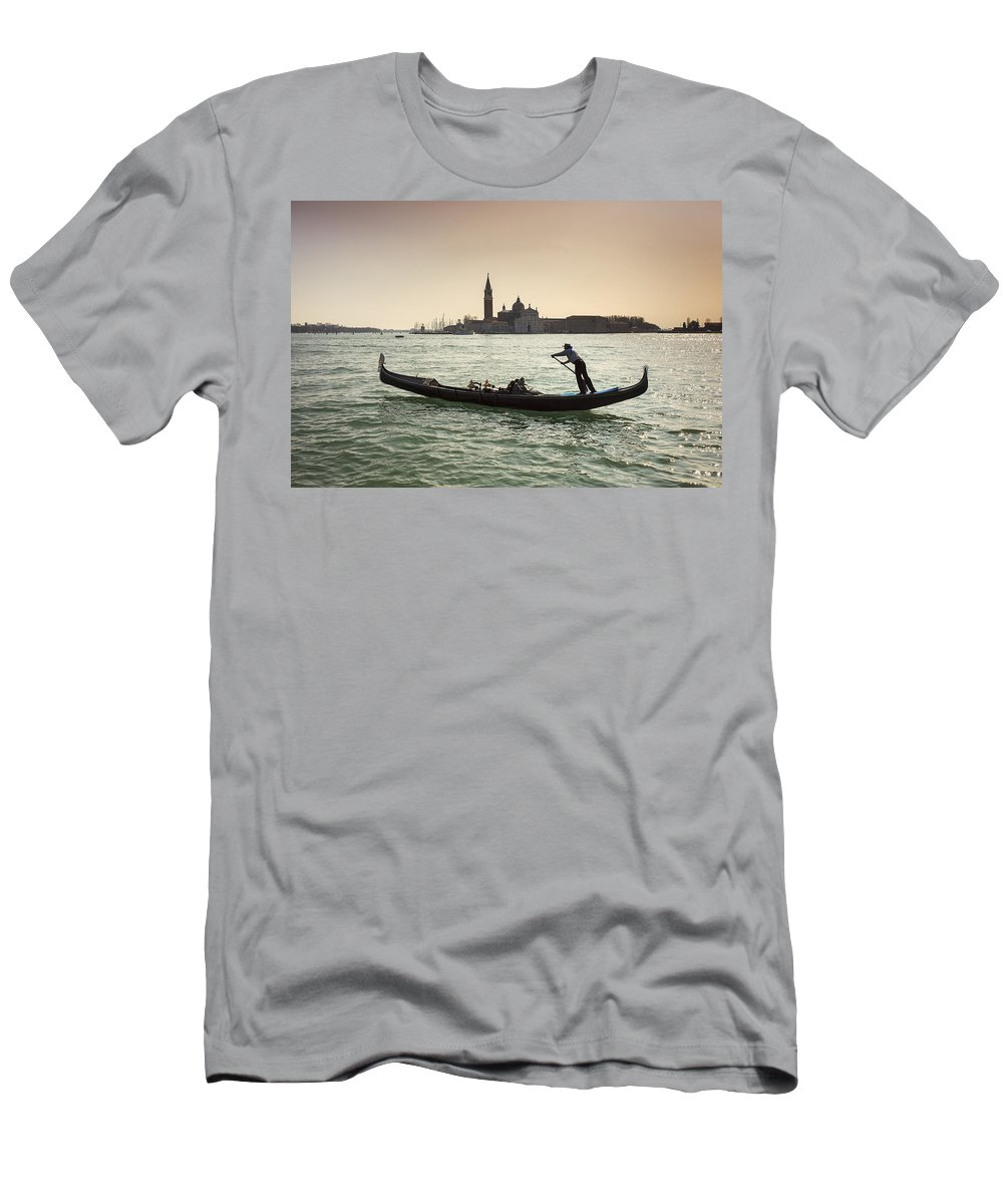 Venezia Men's T-Shirt (Athletic Fit) featuring the photograph Il Veneziano by Alfio Finocchiaro