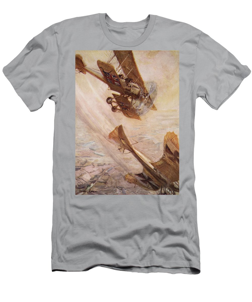 World War I Men's T-Shirt (Athletic Fit) featuring the drawing Illustration From Told In The Huts The by Cyrus Cuneo