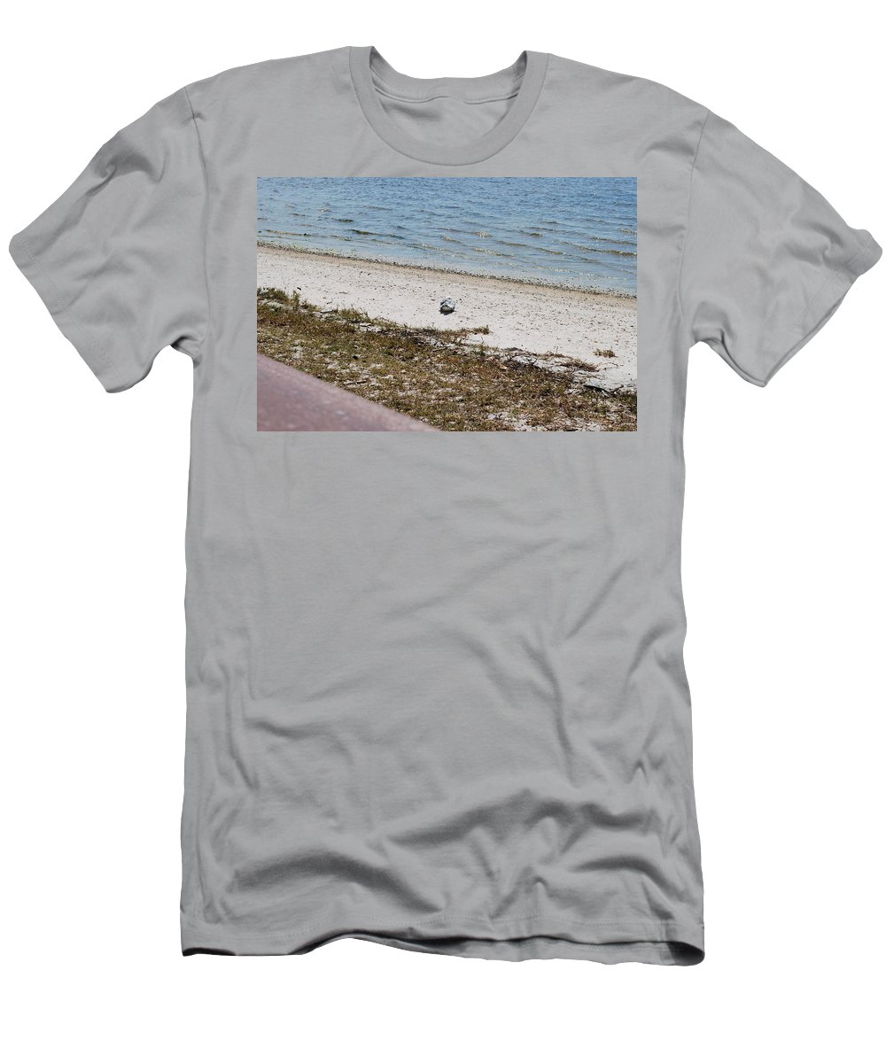 Seagull On Watch Men's T-Shirt (Athletic Fit) featuring the photograph I'm Waching You by Robert Floyd