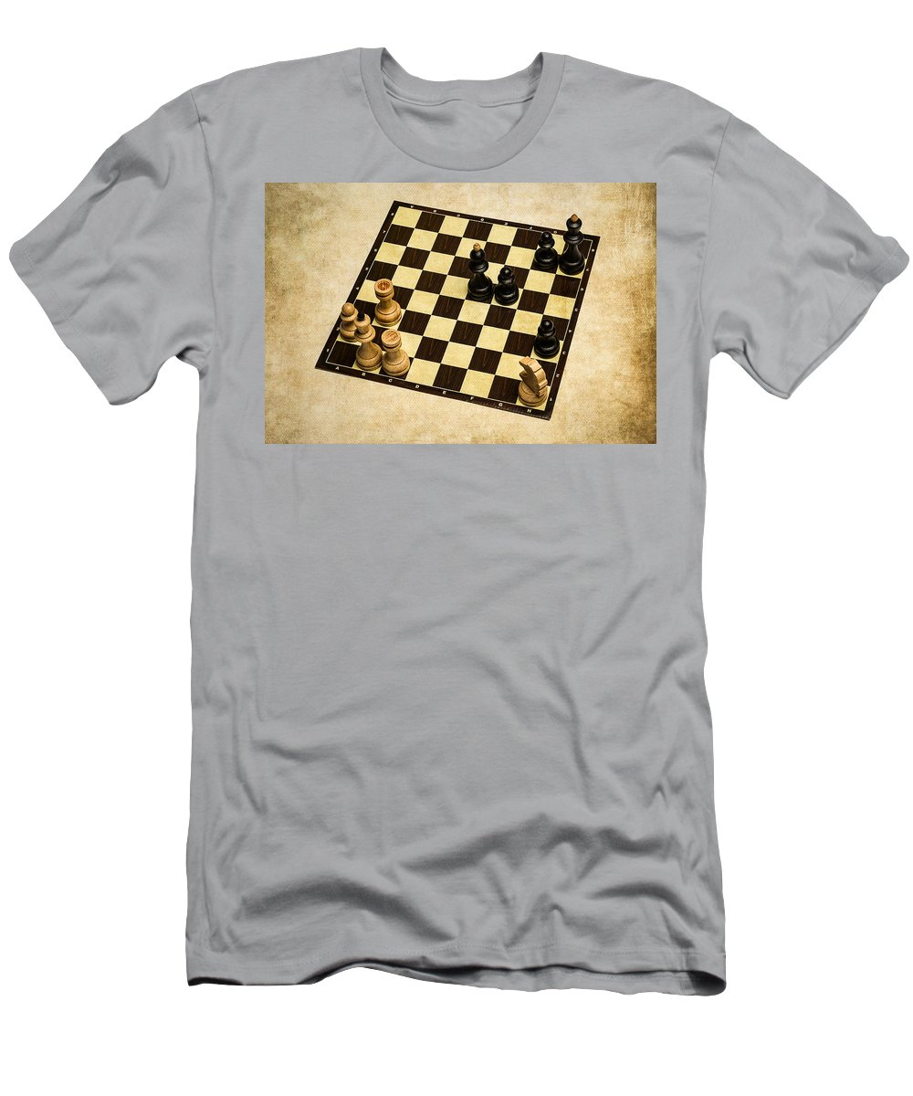 Chess Men's T-Shirt (Athletic Fit) featuring the photograph Immortal Chess - Anand Vs Topalov 2005 by Alexander Senin