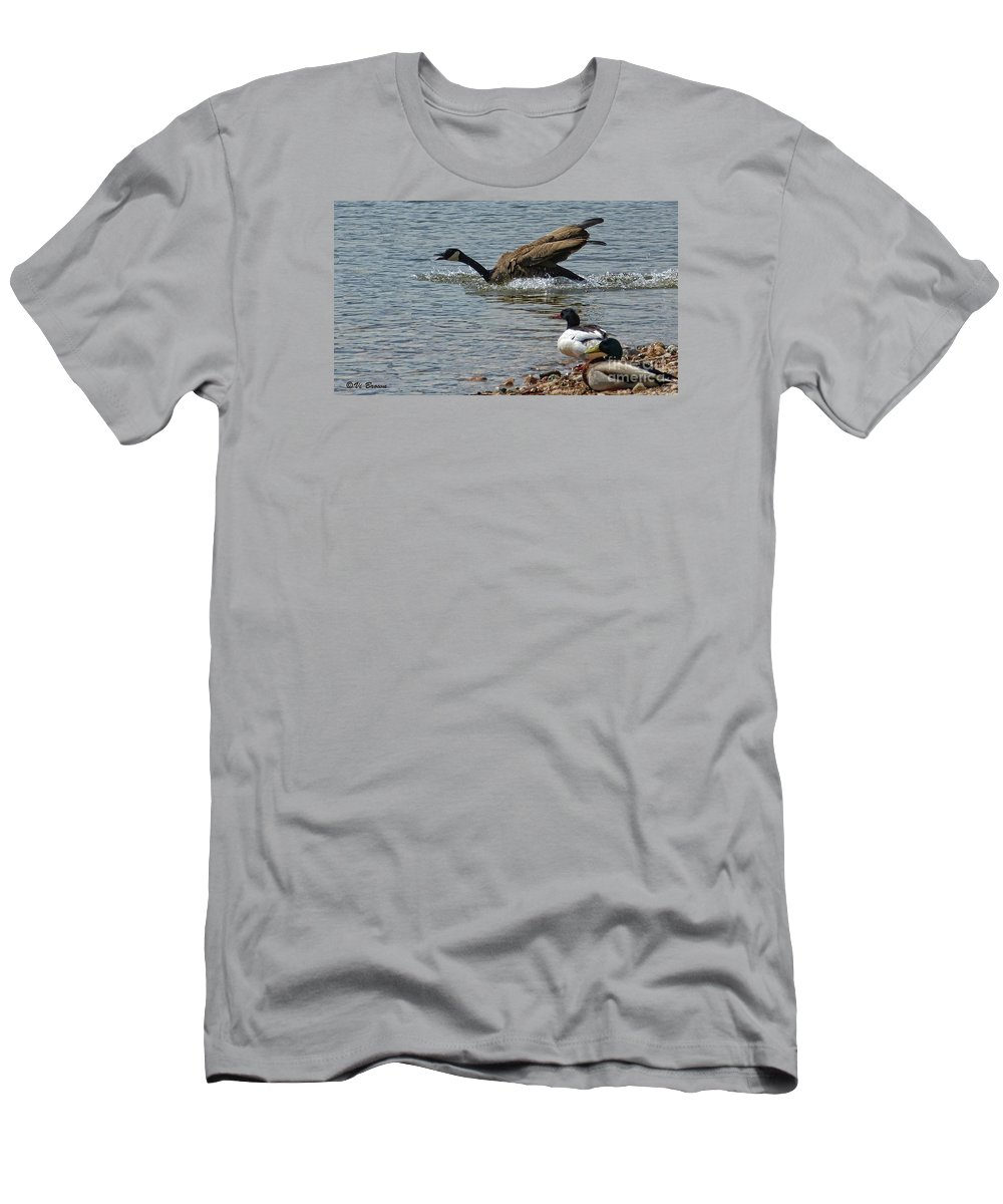 Canada Goose Men's T-Shirt (Athletic Fit) featuring the photograph In A Hurry by Vi Brown