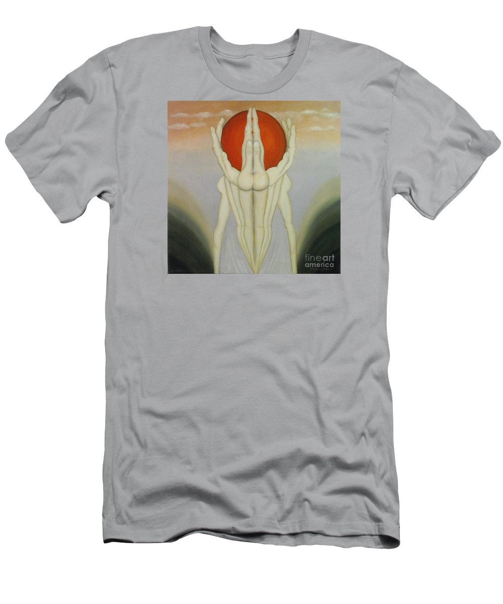 Surreal Men's T-Shirt (Athletic Fit) featuring the painting In Good Hands by John Stuart Webbstock