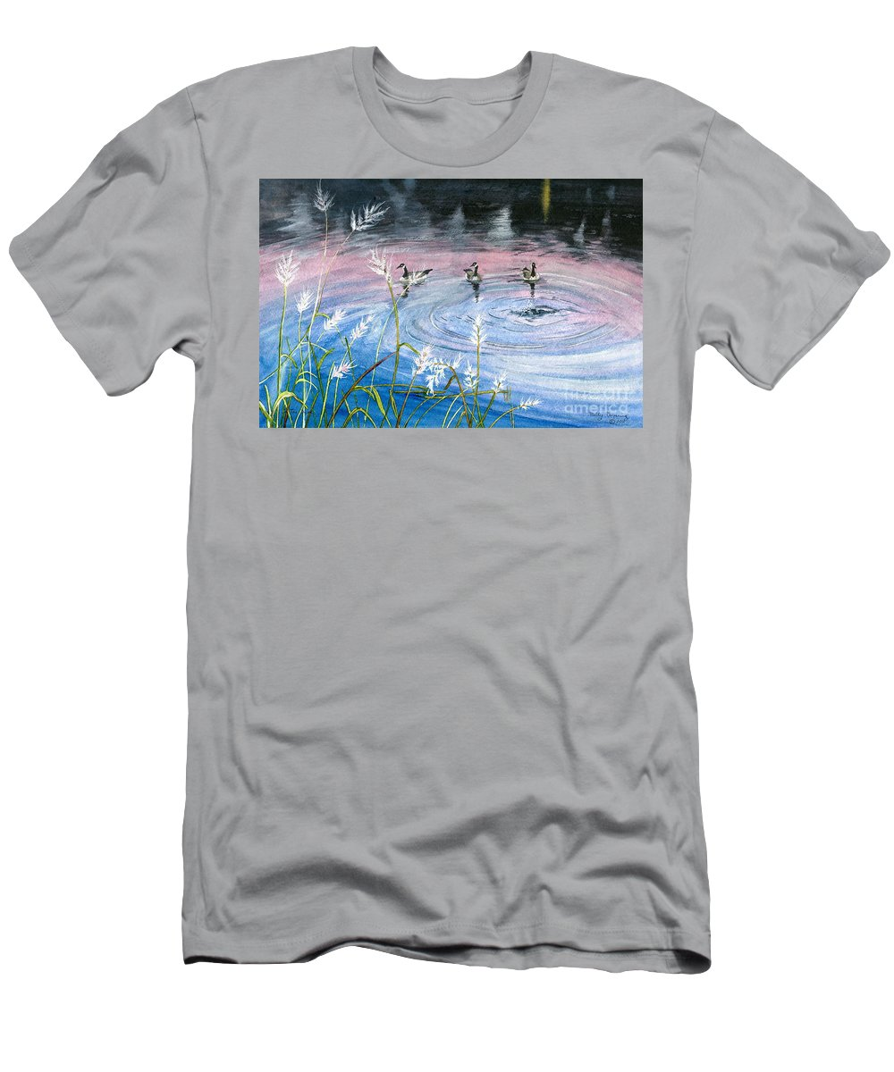 Pennsylvania Men's T-Shirt (Athletic Fit) featuring the painting In The Dusk by Melly Terpening