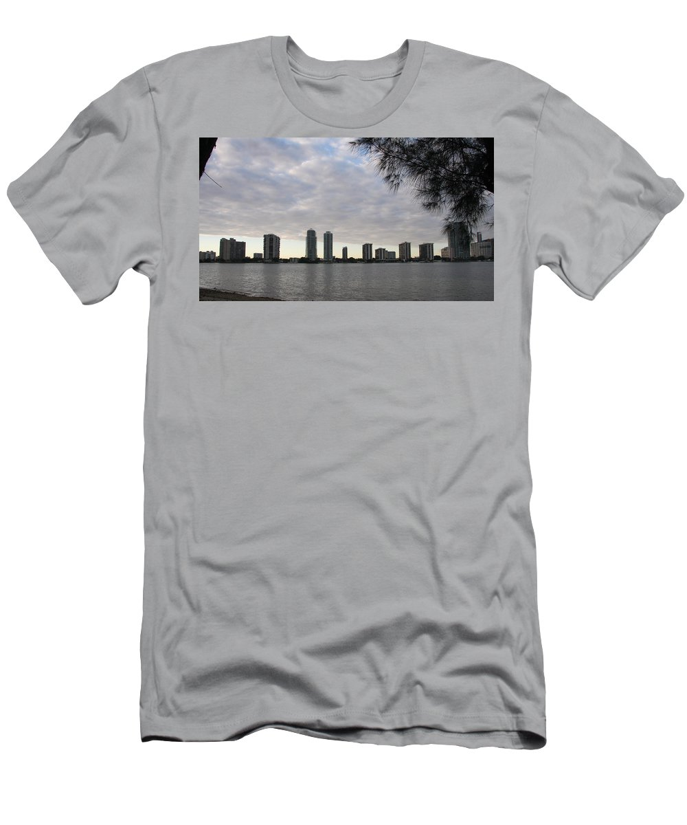 Skyline Men's T-Shirt (Athletic Fit) featuring the photograph In The Eveninglight by Christiane Schulze Art And Photography