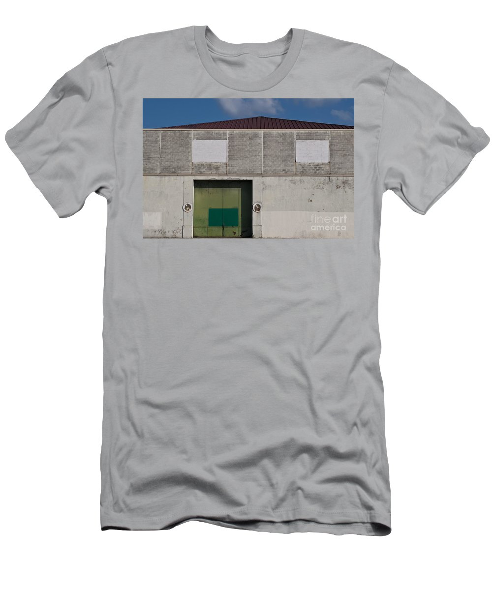 Industrial Men's T-Shirt (Athletic Fit) featuring the photograph Industrial Building by Lana Enderle