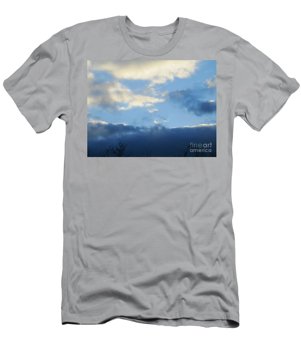 Sky Men's T-Shirt (Athletic Fit) featuring the photograph Inkblot Clouds 2 by Tara Shalton