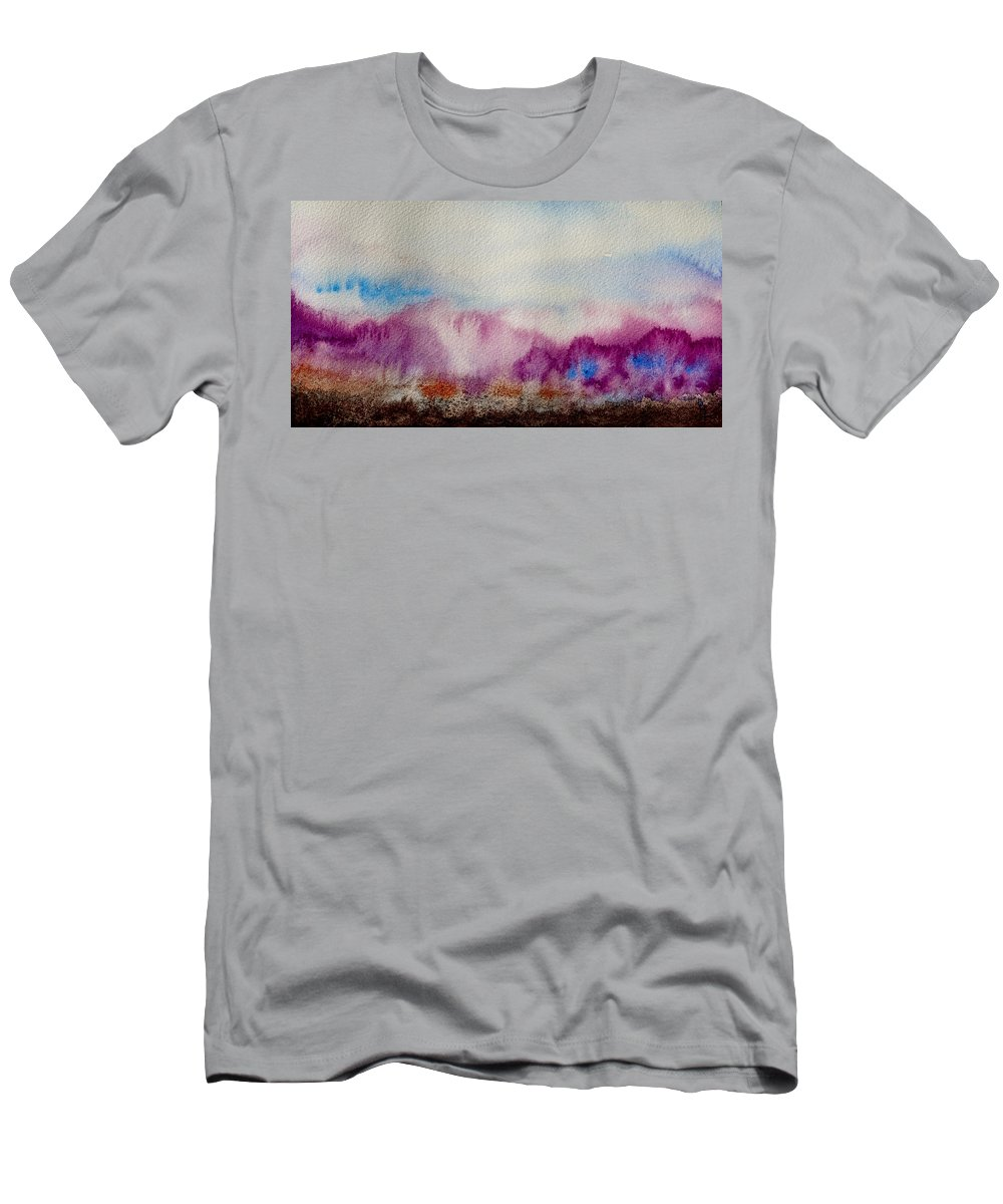 Purple Men's T-Shirt (Athletic Fit) featuring the painting Into The Mist I by Beverley Harper Tinsley