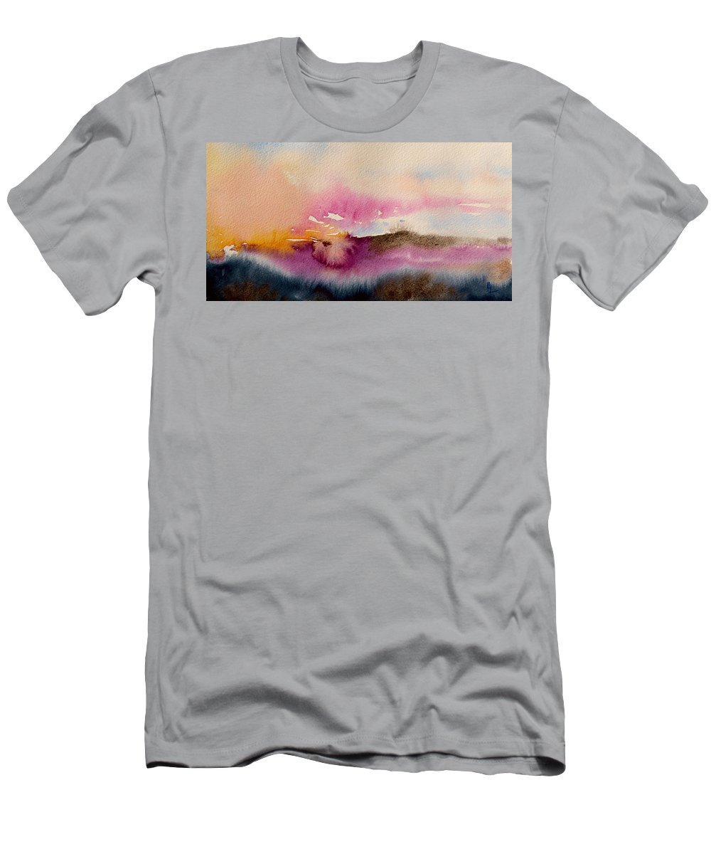 Purple Men's T-Shirt (Athletic Fit) featuring the painting Into The Mist II by Beverley Harper Tinsley