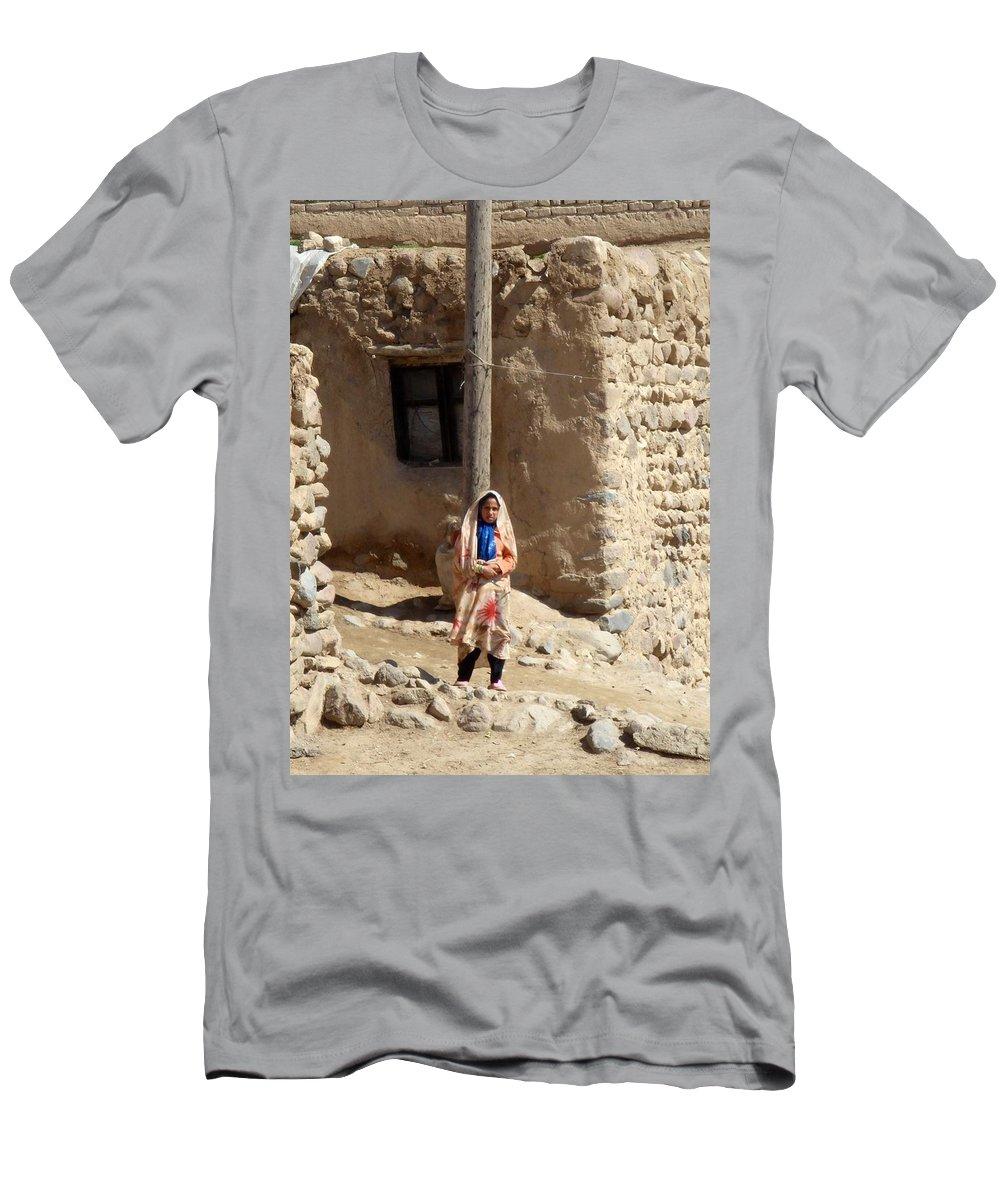 Kandovan Men's T-Shirt (Athletic Fit) featuring the photograph Iran Kandovan Resident by Lois Ivancin Tavaf