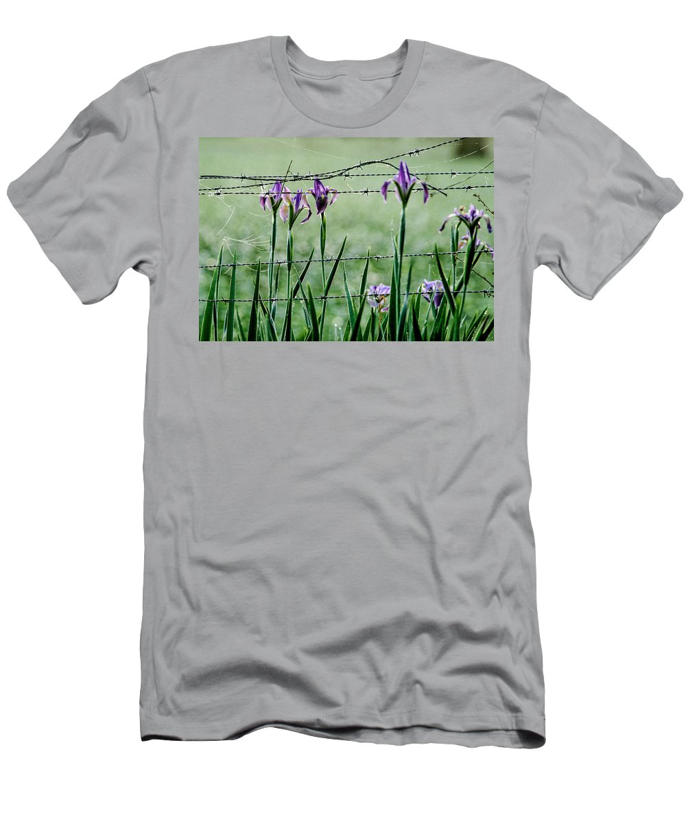 Floral Men's T-Shirt (Athletic Fit) featuring the photograph Irises by Matthew Pace