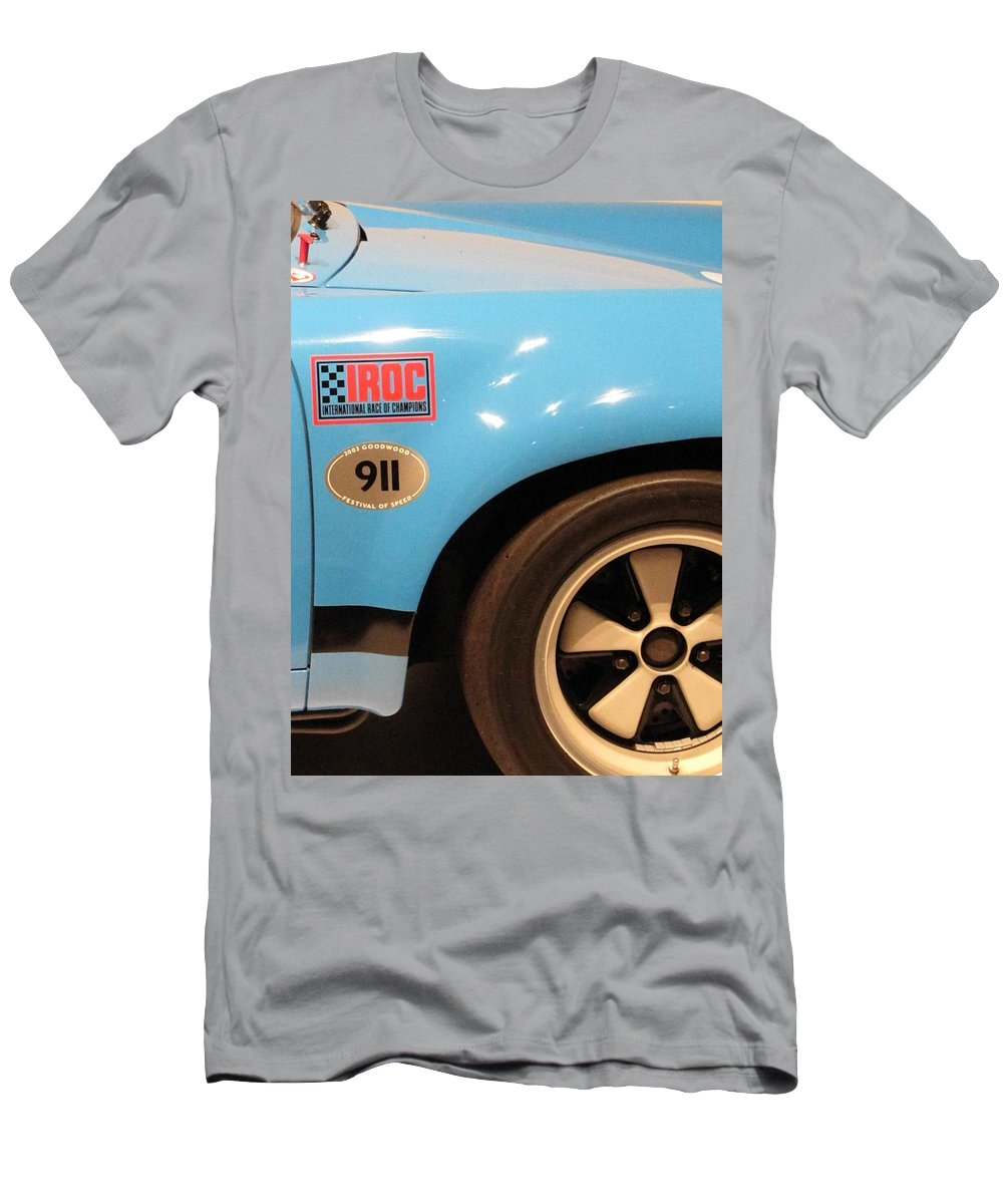 1974 Iroc Porsche 911 Carrera Rsr Men's T-Shirt (Athletic Fit) featuring the photograph Iroc 911 Rsr by Kelly Mezzapelle