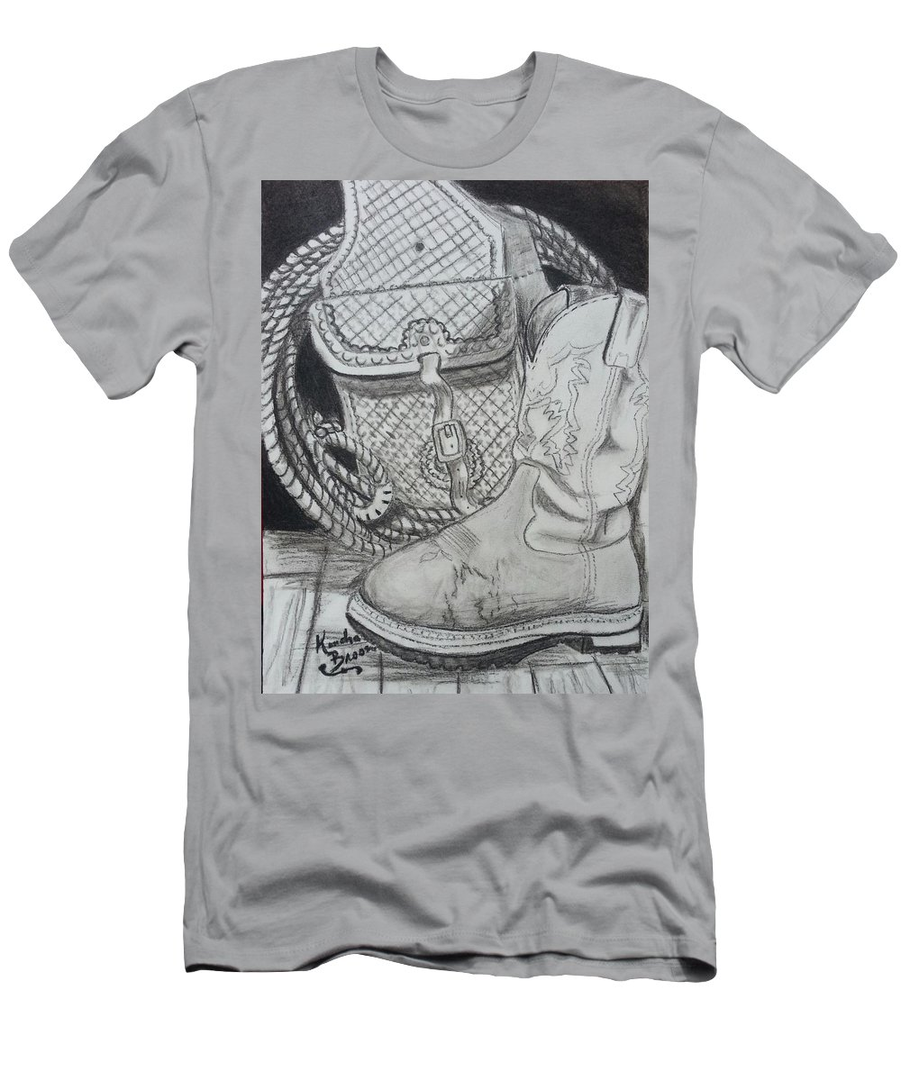 Cowgirl Boots Men's T-Shirt (Athletic Fit) featuring the drawing It's A Lifestyle by Kendra DeBerry