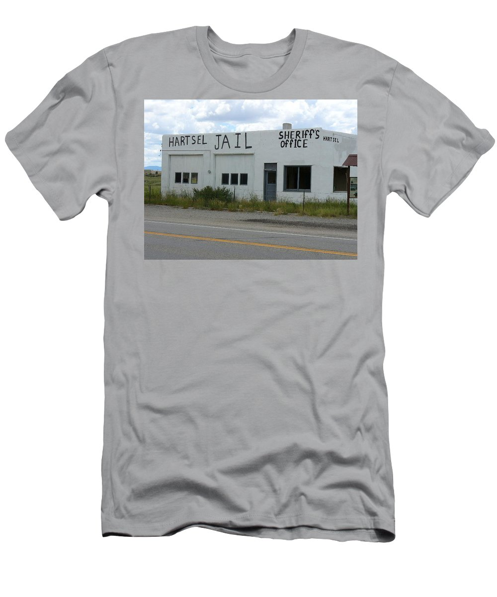 Lyle Men's T-Shirt (Athletic Fit) featuring the painting Jail by Lord Frederick Lyle Morris